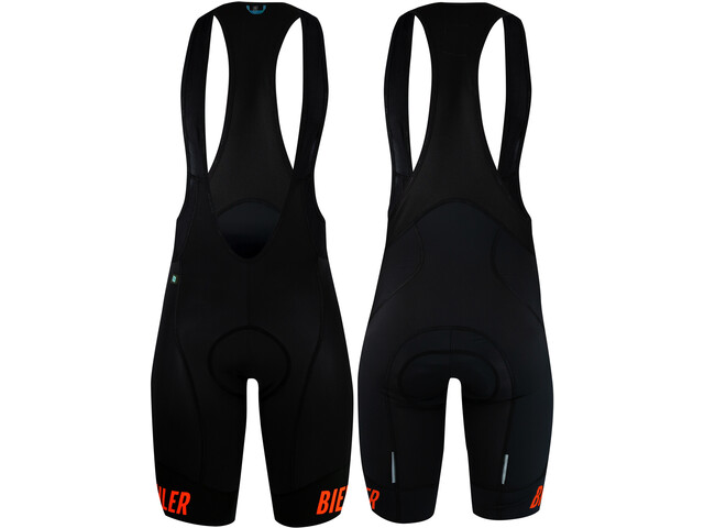 Biehler Essential Bib Shorts Men, black-red